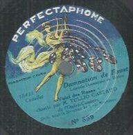"""78 Tours 22cm - TULLIO GASTAUD - PERFECTAPHONE 859  """" VOICI DES ROSES """" + """" NE REVIENDRAS-TU JAMAIS """" - 78 Rpm - Gramophone Records"""