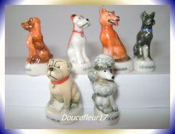Chiens De Race .. 6 Fèves.. Ref AFF : 12-1999 ... ( Pan 0037) - Animals