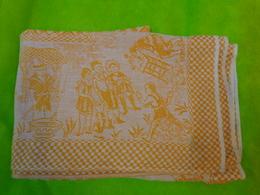 Nappe Jaune 90x120 Beau Decor Avec Personnages Pour Loisir Creatif - Napperons