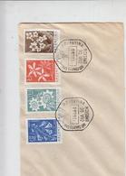 ARGENTINA  1960 - FDC - Yvert 629/32 - Fiori - FDC