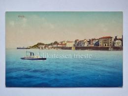 GRECIA GREECE Corfù Korfu Nave Ship Piroscafo Old Postcard AK Vecchia Cartolina - Grecia