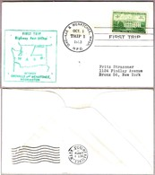 FIRST TRIP Highway Post Office: OROVILLE - WENATCHEE WA 1953 - Correo Postal
