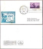 FIRST TRIP Highway Post Office: COLUMBUS MS - FLOMATON AL 1955 - Correo Postal