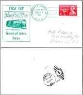 FIRST TRIP Highway Post Office: SAVANNAH & CORDELE GA 1949 - Correo Postal
