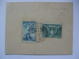 BRAZIL - 1947 Defence Conference Set PAZ On Piece With Handstamp - Cartas