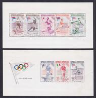 DOMINICAINE BLOC N°    9 & 10 ND ** MNH Neufs Sans Charnière, Rousseurs Et Petit Pli (CLR219) Sports, Jeux Olypiques - Dominican Republic
