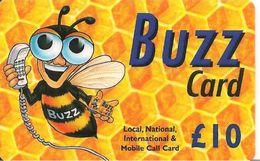 CARTE-PREPAYEE-GB-10£-BUZZ CARD-Plastic Fin-TBE- - Royaume-Uni