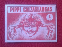 ANTIGUO SOBRE DE CROMOS SIN ABRIR PIPPI CALZASLARGAS EDITORIAL FHER 1974 DIFICIL. Långstrump. PIPI. ESPAÑA. SPAIN VER FO - Documentos Antiguos