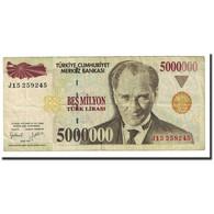 Billet, Turquie, 5,000,000 Lira, L.1970, 1970-10-14, KM:210, TTB - Turkey