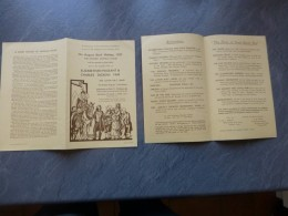 The Historic HATFIELD House 1937, Elisabethan Pageant & Ch Dickens Fair, Dépliant 4 Pages  ; Ref 653VP42 - Historical Documents