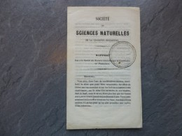 Sté Sciences La Rochelle 1854, Rapport Sur Les Effets De L'hiver Sur Crevettes Et Huîtres, RARE  ; Ref 644VP42 - Historical Documents