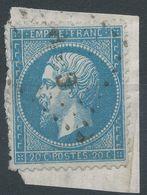 Lot N°41646  Variété/n°22, Oblit Losange CnP Des Ambulants, Point Blanc Dérierre Le Coup - 1862 Napoléon III