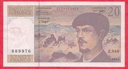 """20 Francs""""Debussy"""" 1995 Série Z.048 ------AU/SPL - 1962-1997 ''Francs''"""