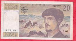 "20 Francs""Debussy"" 1983 Série B.011 ------F/TTB - 1962-1997 ''Francs''"