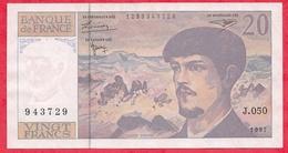 "20 Francs""Debussy"" 1997 Série J.050 ------XF/SUP+ - 1962-1997 ''Francs''"