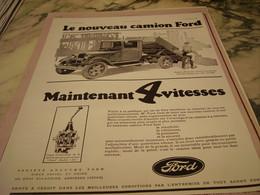ANCIENNE PUBLICITE NOUVEAU CAMION FORD  1930 - Camions