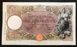 500 Lire Mietitrice Fascio Roma 23 03 1942 Pressata Ma Bel Bb   LOTTO 611 - 500 Lire