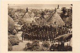 OUBANGUI CHARI - Afrique Equatoiale Française -Funérailles D' Un Chef Boubou  - Photo René Moreau   (103191) - Ciad
