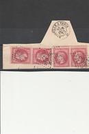 TIMBRES N° 32 - 2 PAIRES SUR FRAGMENT AVEC VARIETE DE PIQUAGE -OBLITERES GC 2656 NICE -COTE : + De 120 € - [6] Democratic Republic