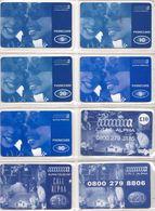 8-CARTES-PREPAYEES-GB-5/10/20£-ALPHA TELECOM-Plastic Fin-TBE- - Royaume-Uni