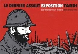 Carte Postale TARDI Jacques Exposition Abbaye De L'Epau 2017 (le Dernier Assaut) - Cartoline Postali