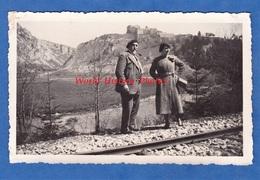 Photo Ancienne - LE FORT De JOUX ( Doubs ) - Vue Prise De La Voie Ferrée - 23 Mai 1937 - Prés PONTARLIER - Lieux