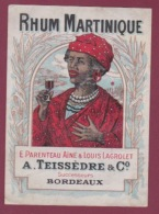 090318 - ETIQUETTE ANCIENNE - RHUM MARTINIQUE E PARENTEAU L LAGROLET A TEISSEDRE & Co BORDEAUX - Rhum