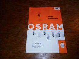 CB5 Folder Commercial Ampoules  Lampes Mignonnettes Osram No Philips 1967 - Publicidad
