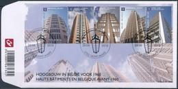 Belgie Belgique  2010 OCBn° FDC 4049-4053 (o) Oblitéré  Cote 12,50 Euro  Hoogbouw Haut Bâtiments - FDC