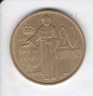 MONEDA DE MONACO DE 20 FRANCS DEL AÑO 1962 (COIN) RAINIER III - Mónaco
