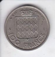MONEDA DE MONACO DE 100 FRANCS DEL AÑO 1956 (COIN) RAINIER III - Mónaco