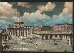J) 1955 VATICAN CITY, POPE PIUS II, PLAZA DE SAN PEDRO, AIRMAIL, CIRCULATED COVER, FROM VATICAN CITY TO CALIFORNIA, POST - Vatican