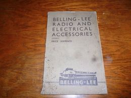 Belling Lee Radio And Electrical Accessories Pièces Pour Radio Amateur - Boeken, Tijdschriften, Stripverhalen