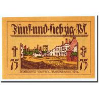 Billet, Allemagne, Neindenburg, 75 Pfennig, Château, 1921, Undated, SPL - Germany