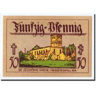 Billet, Allemagne, Neindenburg, 50 Pfennig, Château, 1921, Undated, SPL - Germany