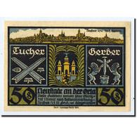 Billet, Allemagne, Neustadt A.d Orla Stadt, 50 Pfennig, Château, 1921 - Germany