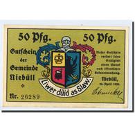 Billet, Allemagne, Niebüll, 50 Pfennig, Ecusson, 1920, 1920-04-20, SPL - Germany