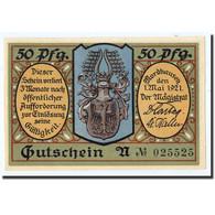 Billet, Allemagne, Nordhaussen, 50 Pfennig, Personnage, 1921, 1921-05-01, SPL - Germany