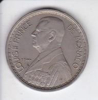 MONEDA DE MONACO DE 20 FRANCS DEL AÑO 1947 (COIN) LOUIS II - 1922-1949 Louis II