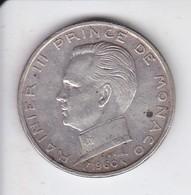 MONEDA DE PLATA DE MONACO DE 5 FRANCS DEL AÑO 1960  (COIN) SILVER,ARGENT. - 1960-2001 Francos Nuevos
