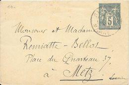LOT 1803192 - ENTIER SAGE 5c SUR LETTRE POUR METZ DU 19 AVRIL 1998 - Postal Stamped Stationery