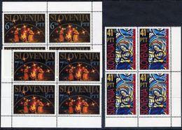 SLOVENIA 1992 Christmas Blocks Of 4 MNH / **.  Michel 32-33, 35 - Slovenia