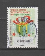FRANCE / 2016 / Y&T N° AA 1337 : Voeux à Gratter (Paquet Cadeau) - Choisi - Cachet Rond (juin 2017) - Frankreich
