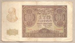 Polonia - Banconota Circolata Da 100 Zloty P-97a - 1940 - Polonia