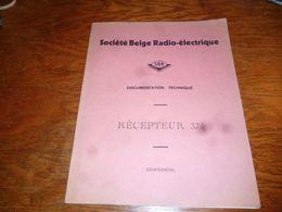 CB5 Doc Technique Bilingue  Français Néerlandais SBR Société Belge Radioélectrique Récepteur 375 - Livres, BD, Revues