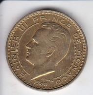 MONEDA DE MONACO DE 50 FRANCS DEL AÑO 1950 (COIN) RAINIER III - Mónaco