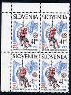 SLOVENIA 1992 Mountain Rescue Service Block Of 4 MNH / **.  Michel 24 - Slovenia