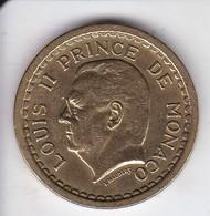 MONEDA DE MONACO DE 2 FRANCS DEL AÑO 1945 (COIN) LOUISE II - Mónaco