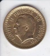 MONEDA DE MONACO DE 1 FRANC DEL AÑO 1945 (COIN) LOUISE II - 1922-1949 Louis II
