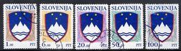 SLOVENIA 1992 Arms Definitive I Set Of 5 Used.  Michel 8-12 - Slovenia
